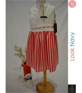 Sanmar vestido navy cremallera